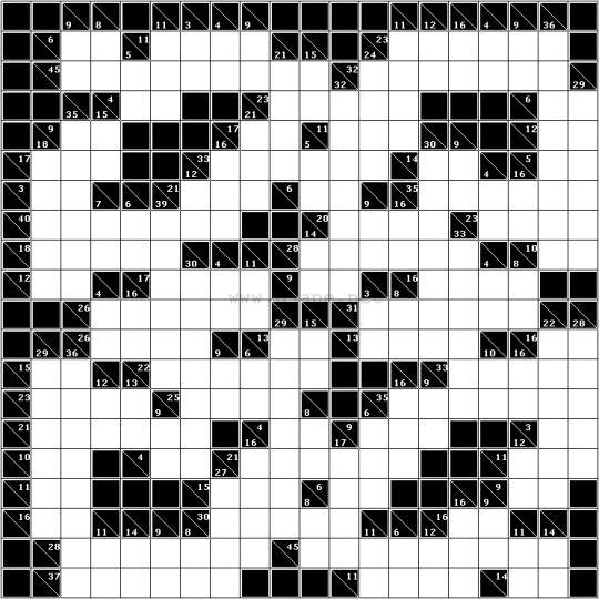 image relating to Cross Sums Printable named Large Kakuro puzzle! Impossible! Puzzles Sudoku puzzles