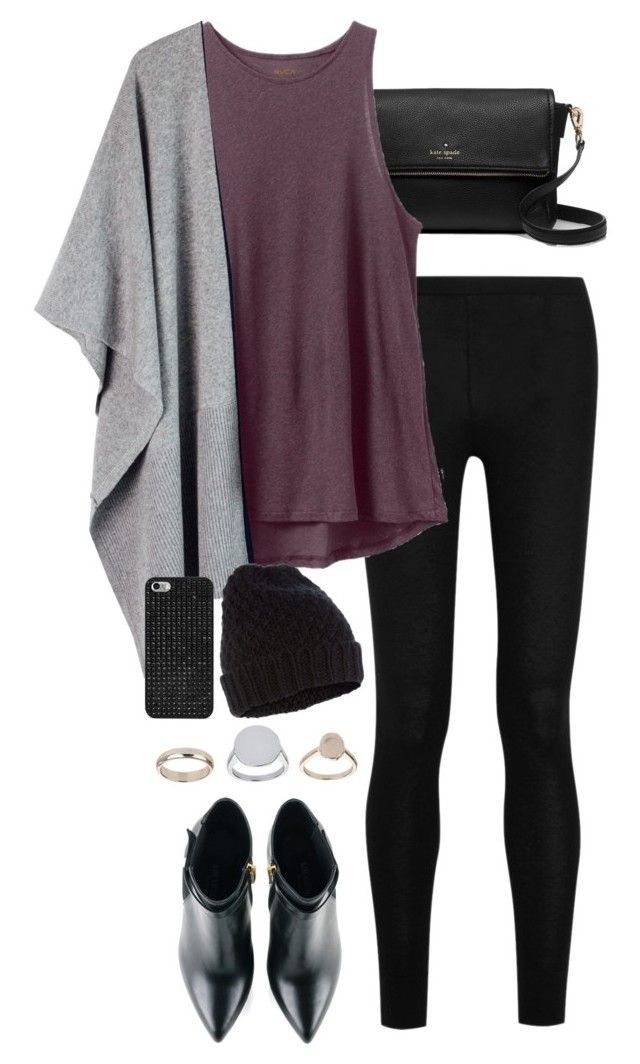 """""""Untitled #130"""" by jasmine-shum ❤ liked on Polyvore featuring Kate Spade, Donna Karan, RVCA, Kim Kwang, Topshop, BaubleBar and Accessorize"""