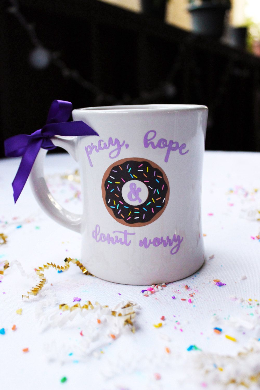 Pray, Hope & Donut Worry- Mug by LittleHeavenlyThings on Etsy