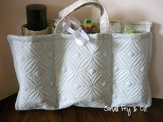 Travel toiletry bag tutorial - from a placemat & dishtowel!