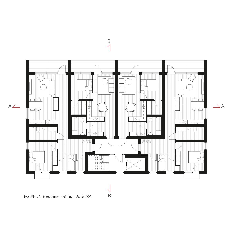 Brettschichtholz Mit Tiefenwirkung Wohnhaus Von C F Moller In Schweden In 2020 Grundriss Mehrfamilienhaus Wohnhaus Fenster Architektur