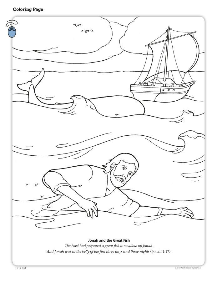 Jonah And The Whale Coloring Page Az Coloring Pages Jonah And The ...
