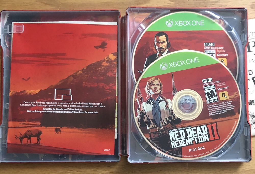 Red dead redemption 2 Ultimate xbox one Steel Box ~ Mint