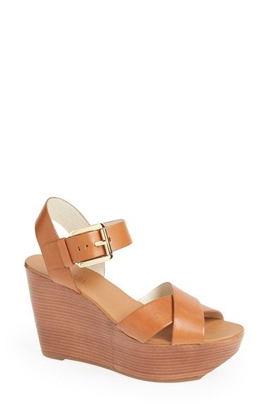 fa11445e5c06 MICHAEL Michael Kors  Peggy  Wedge Sandal available at  Nordstrom ...