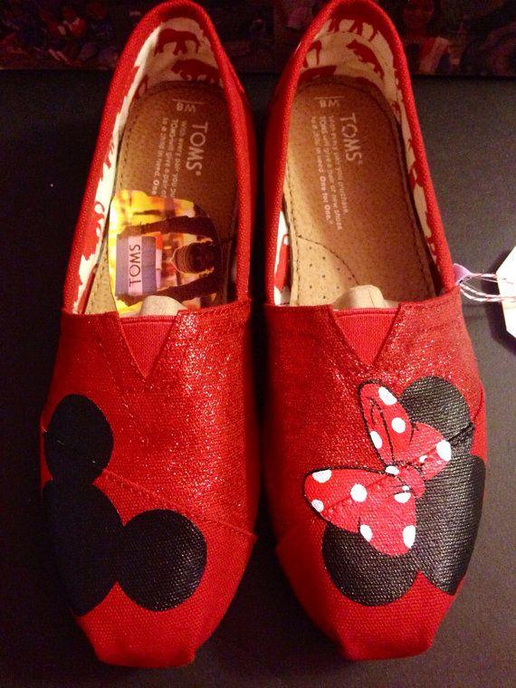 Disney Toms - Red Glitter