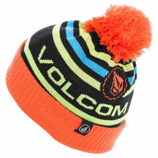 VOLCOM Youth Uncharted Beanie orange bonnet à pompon snowboard 30,00 \u20ac  volcom