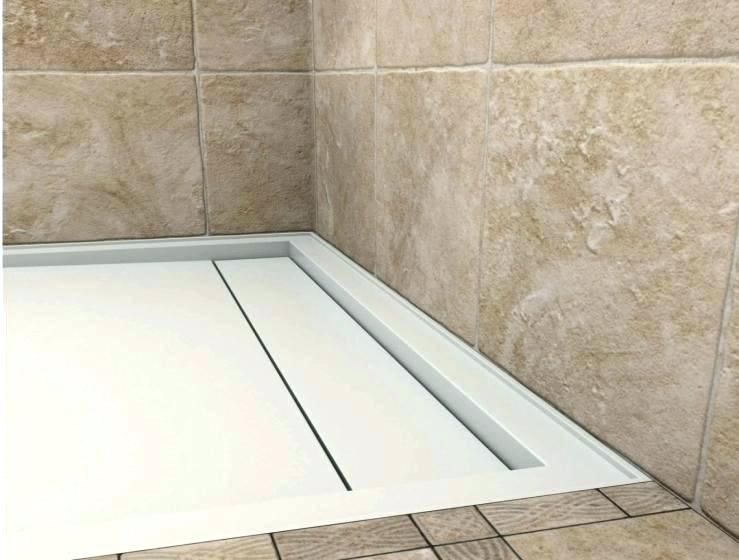 Kerdi Shower Pan Linear Drain.Linear Drain Shower Pan Base With Kerdi Wall Line Tray
