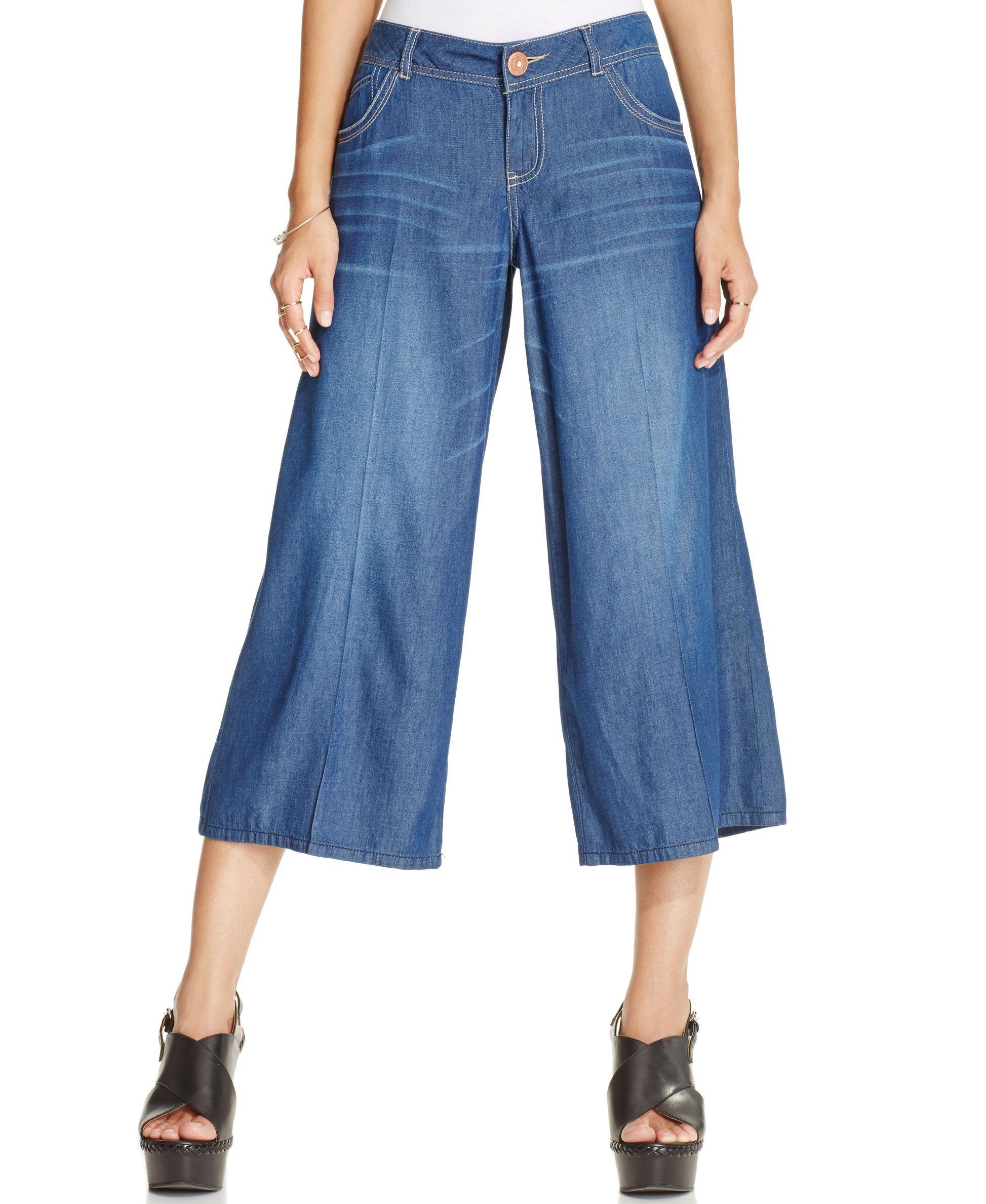 American Rag Denim Gaucho Pants | Products in 2019 | Denim