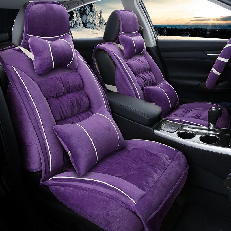 3D Winter Plush Warm Seat Mats For BMW F10 F11 F15 F16 F20 F25 F30 F34