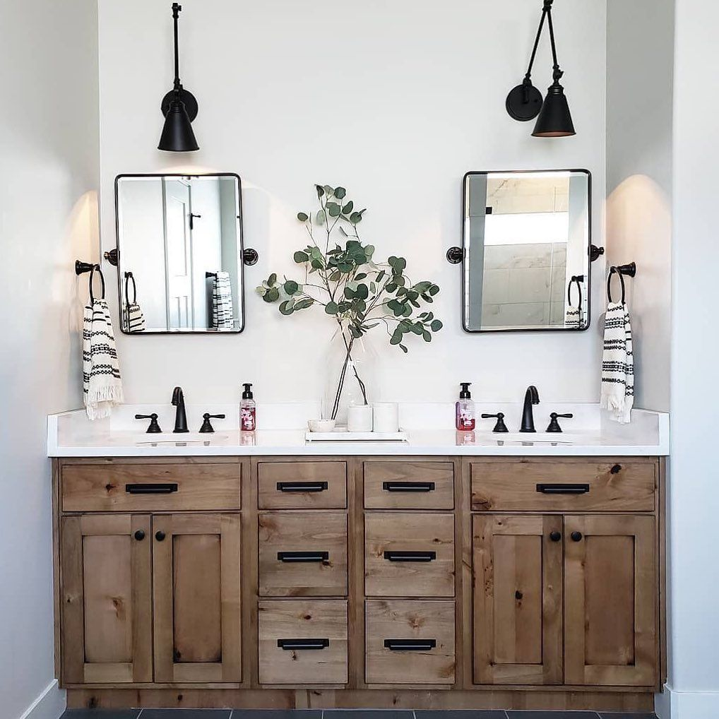 Pottery Barn On Instagram The Easiest Bathroom Update A Mirror Swap Tennessee Girl Out West Updated Her S Bathrooms Remodel Bathroom Makeover Diy Bathroom