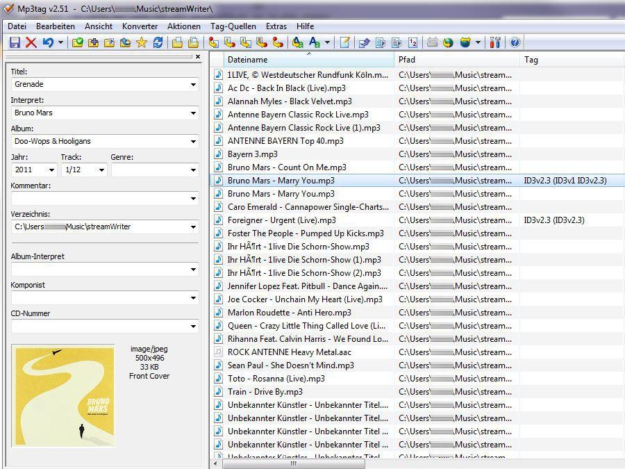 Mp3tag 2.79 Deutsch: Mp3tag ist eine ausgezeichnete Freeware, mit ...
