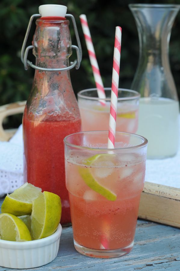 Homemade Strawberry-Limeade Soda - forget the stuff in the cans!