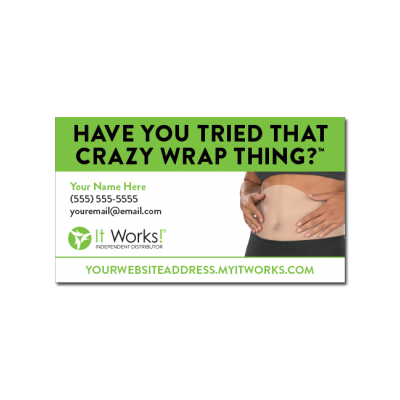 Crazy wrap thing one sided business card it works global crazy wrap thing one sided business card business cardsit works colourmoves Choice Image