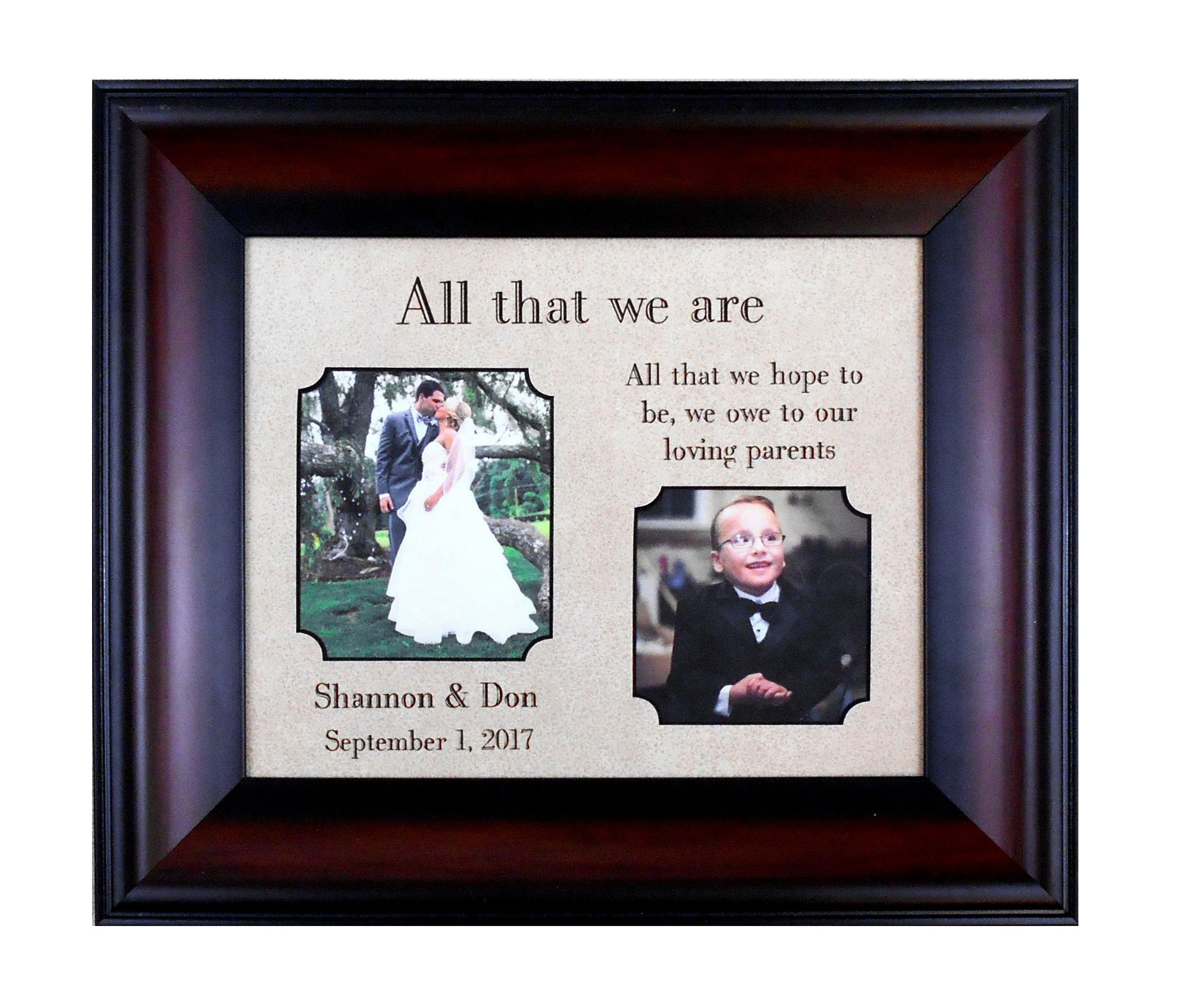 Wedding Gift From Bride To Dad Personalized Picture Frame Walking Down The Aisle Father Of Groom Marriage Overall