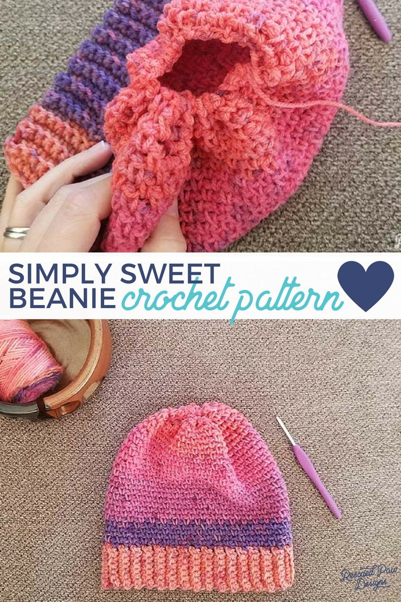 Simply sweet crochet beanie pattern free crochet hat patterns simply sweet crochet beanie pattern bankloansurffo Image collections