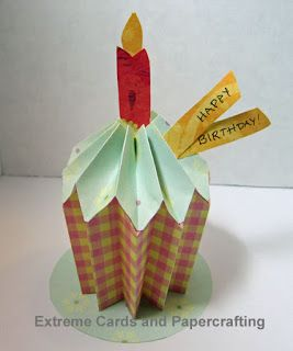 Pleated paper cupcake origami reverse fold v fold creates dimension origami reverse fold v fold creates dimension happy birthday card bookmarktalkfo Gallery