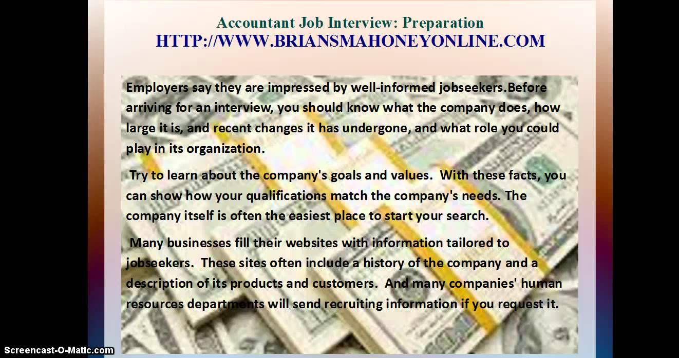 accountant job interview preparation job salaries accountant job interview preparation