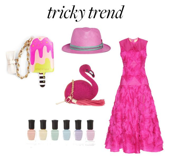 """tricky trend"" by arnolfahmi ❤ liked on Polyvore featuring Roksanda, My Bob, Skinnydip, Betsey Johnson, Deborah Lippmann, TrickyTrend and culottes"