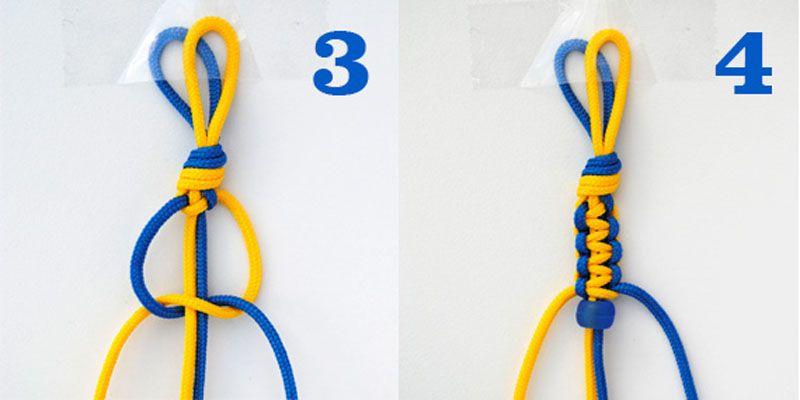 браслеты своими руками для начинающих из ниток 2 узлы
