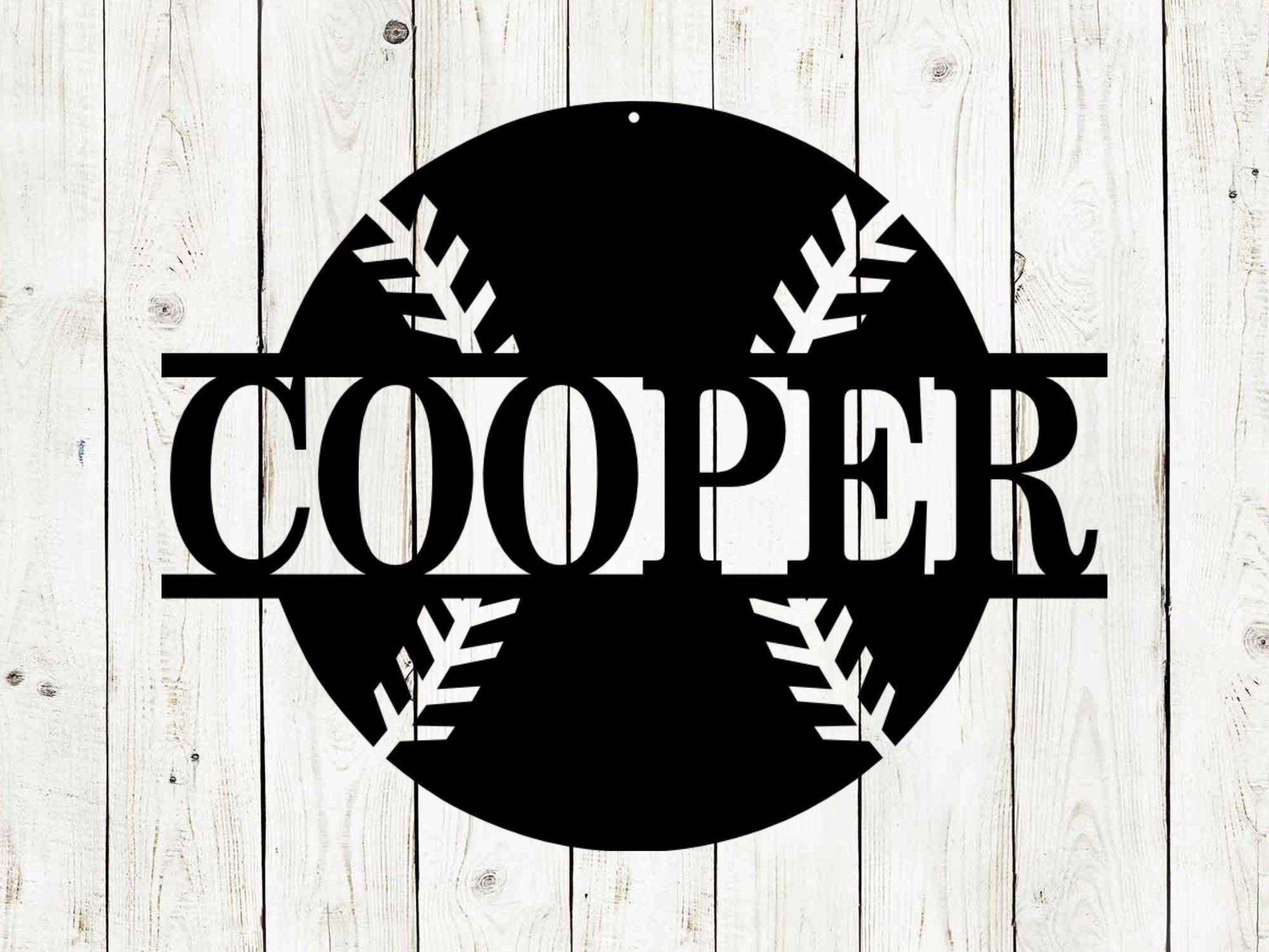 Baseball Custom Monogram Name Metal Sign, Baseball, Baseball Sign, Metal Sign, Custom Metal Sign, Birthday