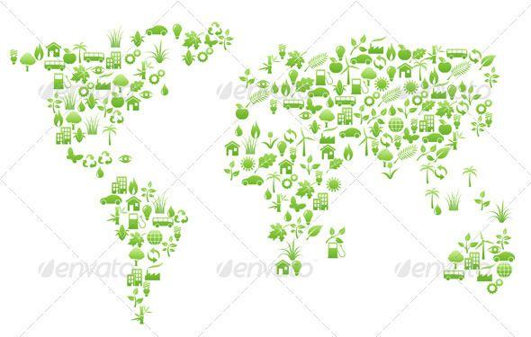 World Map Shape Icon Illustrations And Icons - World map shape