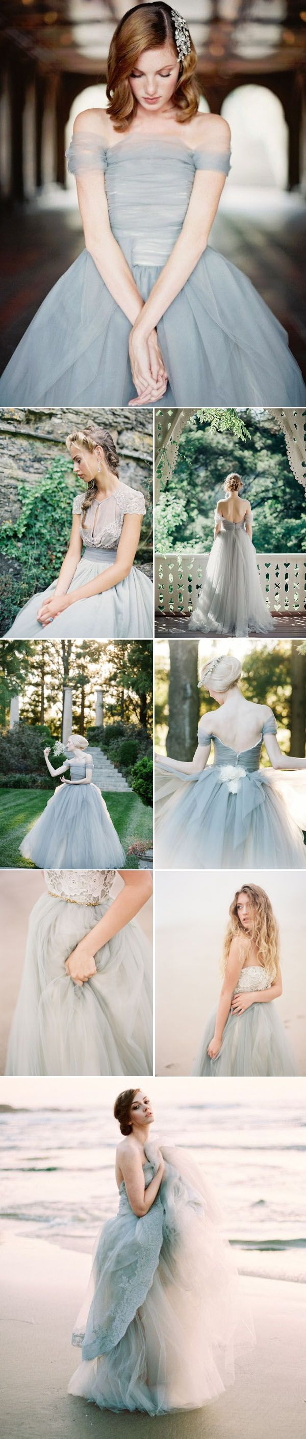 gray dresses for wedding 32 Mint Grey Blush and Gold Wedding Dresses