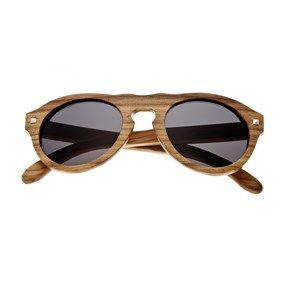 Earth Wood Zebra Sunset Sunglasses w/ Polarized Lenses