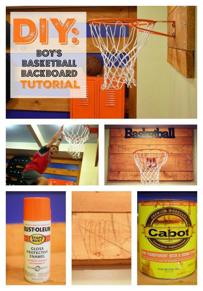 Diy Tutorial Boy S Basketball Backboard Boy Sports Bedroom Sports Room Boys Boys Basketball Bedroom