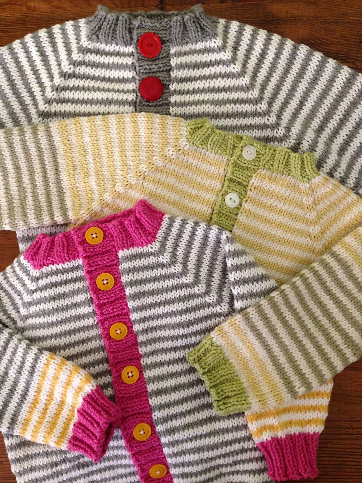 Basic Raglan Baby Cardigan Sweater By Keya Kuhn - Free Knitted ...