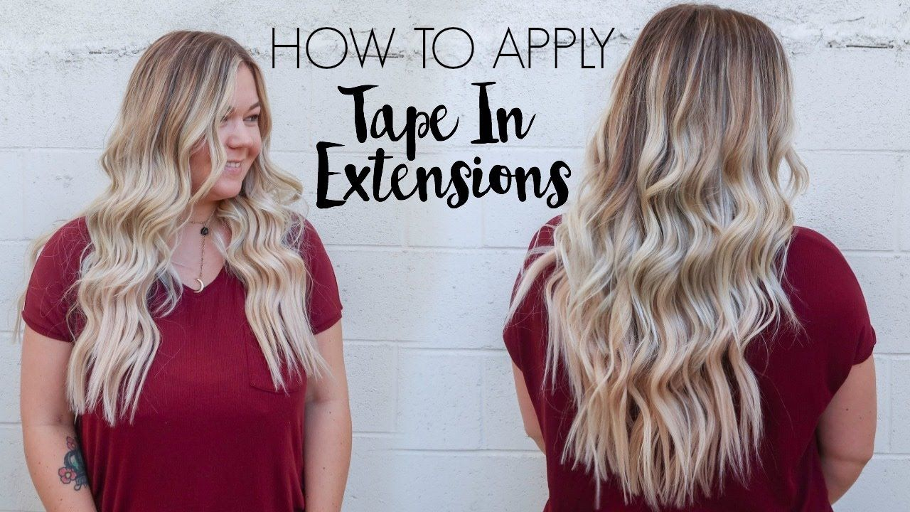 How To Apply Tape In Extensions Hair Beauty Pinterest