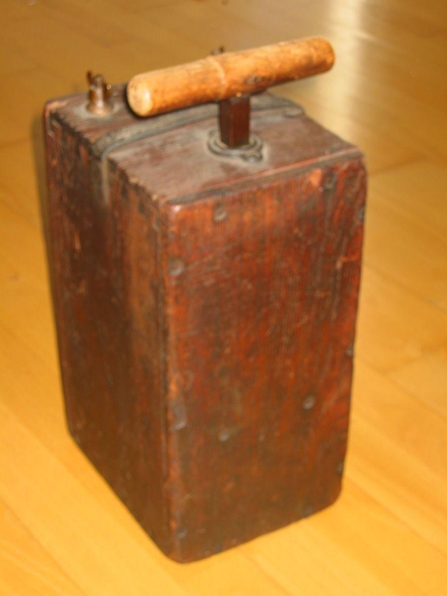 Man Cave Antiques Artifacts : Antique dynamite plunger detonator us engineers mining tnt
