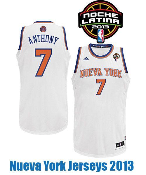 ... Nueva York Jerseys 2013 NocheLatina New York Knicks 2012 2013 Nueva  York Alternate Jersey uniform new ... 854dae50e