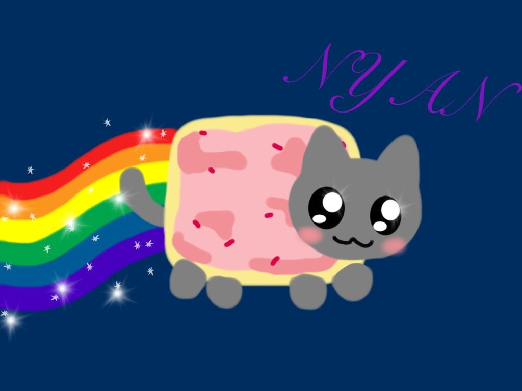 Cute Iphone 6 Shelf Wallpaper Nyan Cat Sushi Ver By Mahaash On Deviantart Nyan Cat