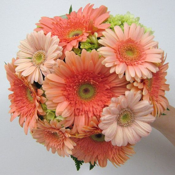 Wedding Bouquets Cascading Bouquets Gerbera by SmallTownFlowers