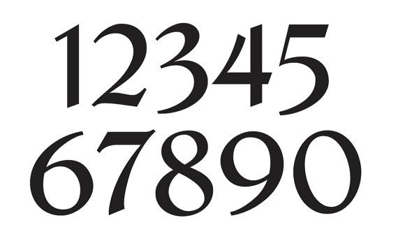 number stencil 3 french chic font numbers 0 9 for painting signs fabric