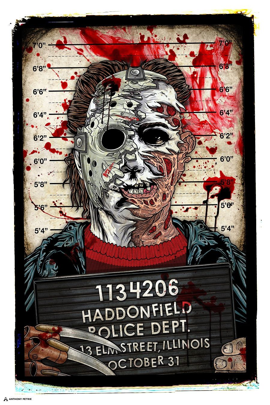 portrait Horror villains, Horror movie icons, Horror