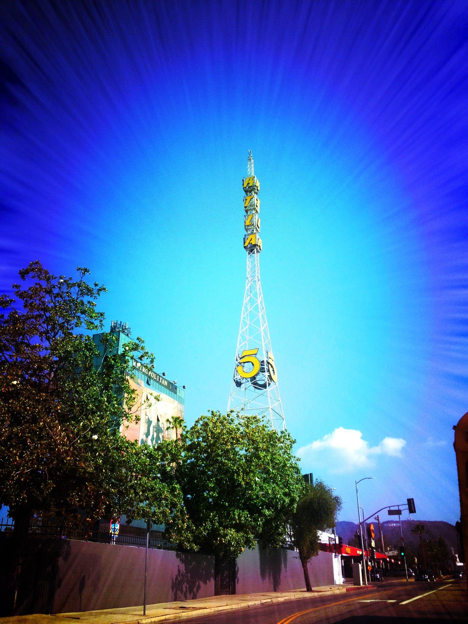 Ktla tower sunset van ness los angeles hollywood