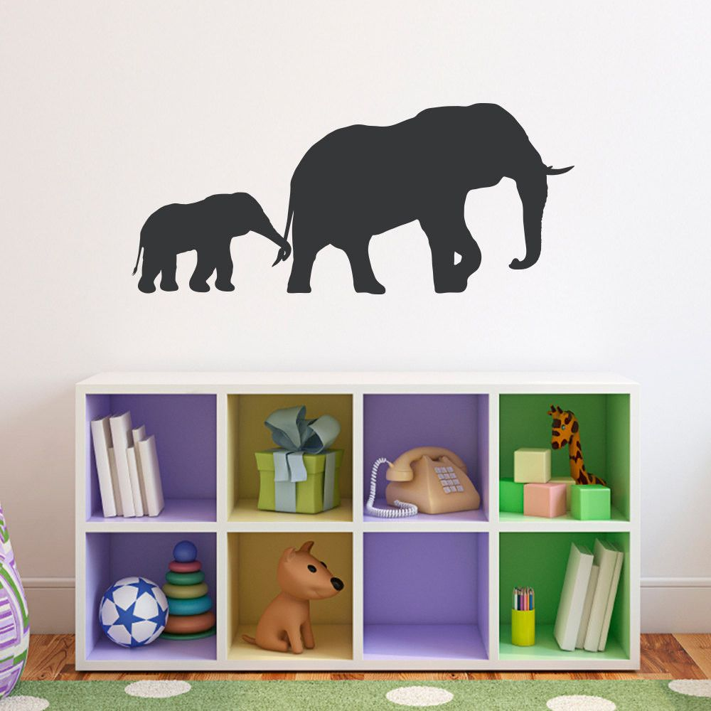 Elephant and baby wall decal large art pinterest products
