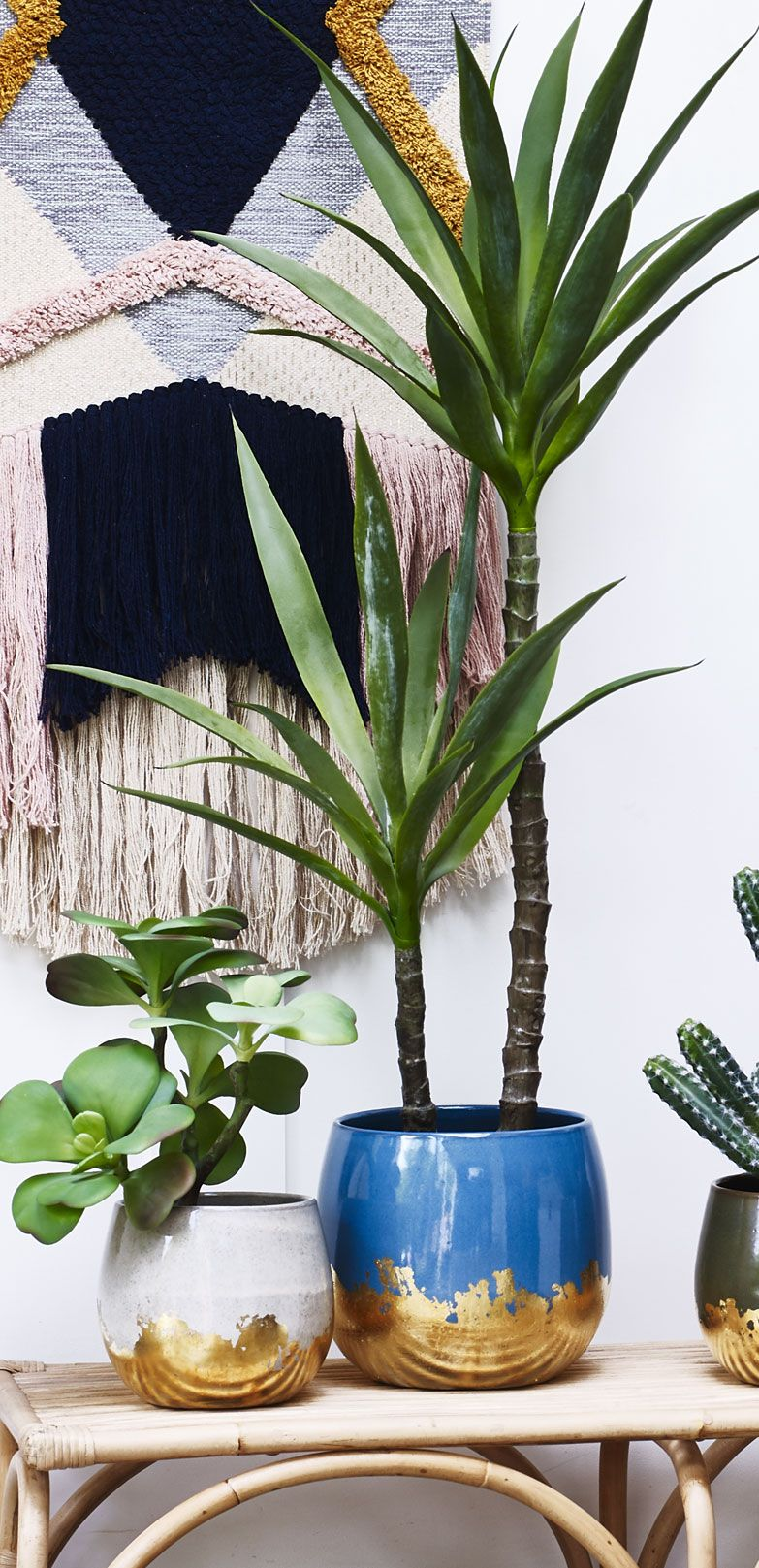 Blue Terracotta Foiled Plant Pot Extra Large Large Plant Pots Large Flower Pots Large Indoor Planters