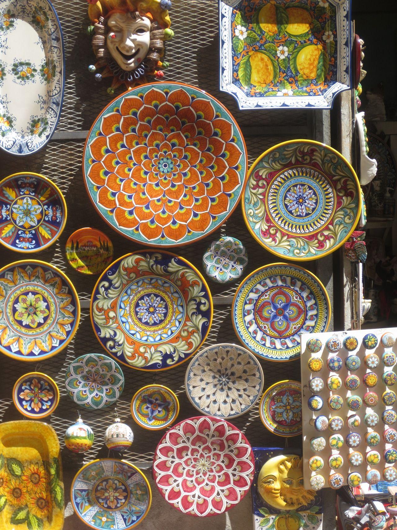 Souvenir Ceramics Of Orvieto Umbria Italy Orvieto Pottery