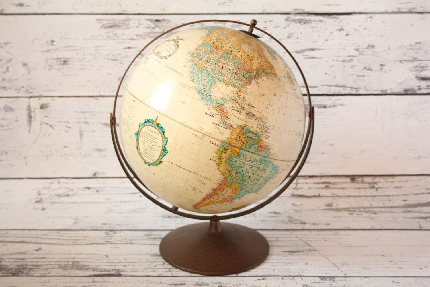 Vintage rare double axis replogle globe sepia map antique colored vintage rare double axis replogle globe sepia map antique colored brass metal base spinning 12 diameter world classic series topographical by gumiabroncs Gallery