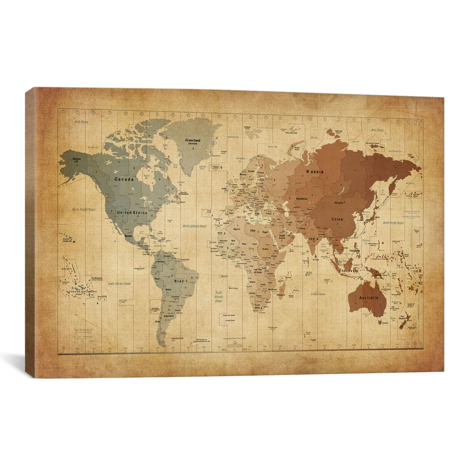 You\'ll love the \'Map of The World III\' by Michael Tompsett Graphic ...