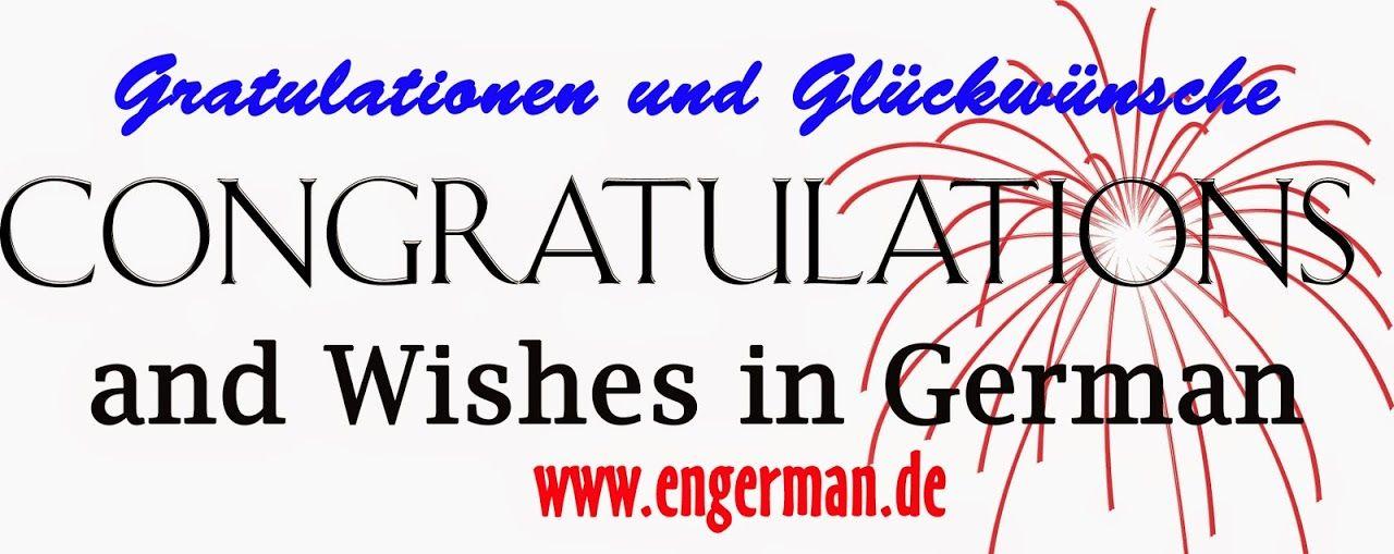 Congrats Auf Deutsch