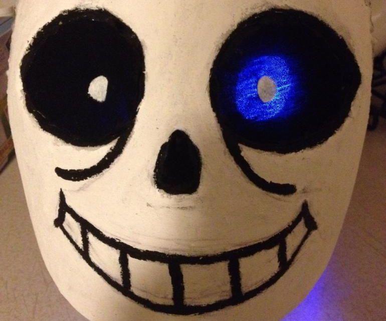 Sans Mask Tutorial Sans Mask Mask Tutorial Sans Halloween Costume