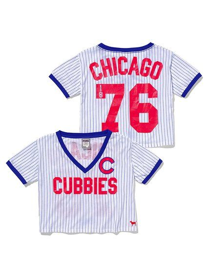 1f4fe69d116 Chicago Cubs Glitter Crop Tee - Victoria s Secret Pink® -