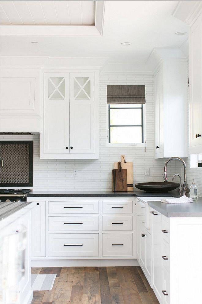 kitchen knobs modern nook colors and backsplash black white cabinets