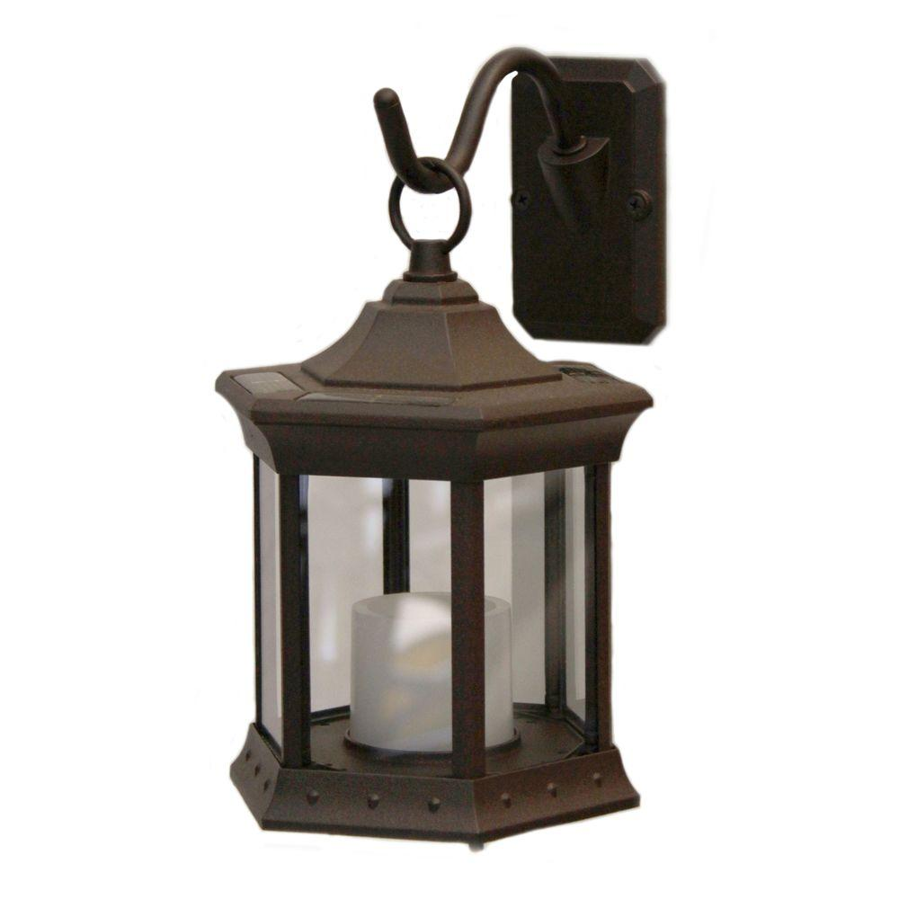 Sconce Hook Clear Glass Solar Lantern Sl Stcg The Home Depot Solar Hanging Lanterns Solar Lanterns Sconces