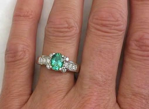 Elegant seafoam green engagement ring Seafoam Green Tourmaline Engagement Ring GR