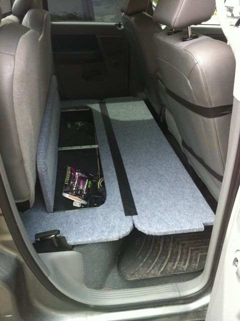 Rear Seat Folding Dog Platform Dodge Ram Forum Dodge Truck Forums Truck Storage Dodge Ram Crew Cab Rear Seat