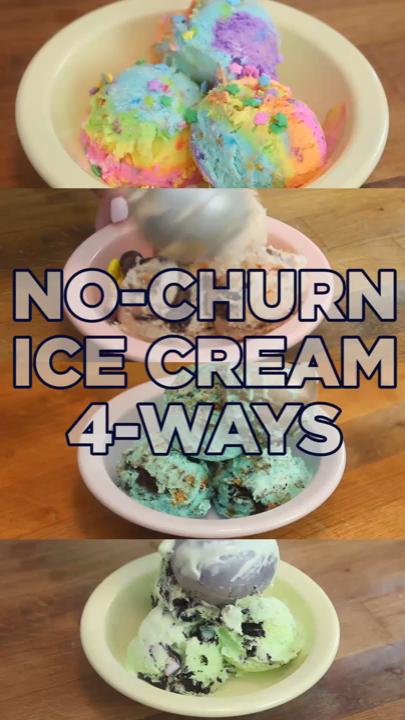 4 ways to make easy no-charn ice cream  #icecreamsandwich